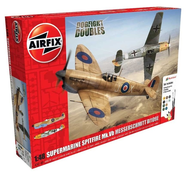 Airfix 1:48 Spitfire Mk.Vb vs. Messerschmitt Bf109E - Model Kit