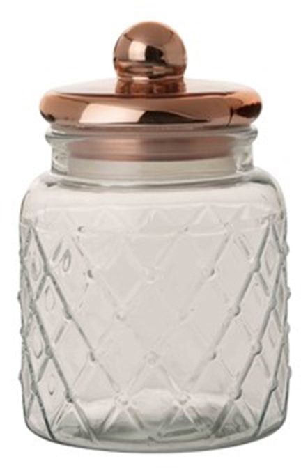 Casa Domani Trellis Storage Jar Copper 2 7l At Mighty Ape Nz