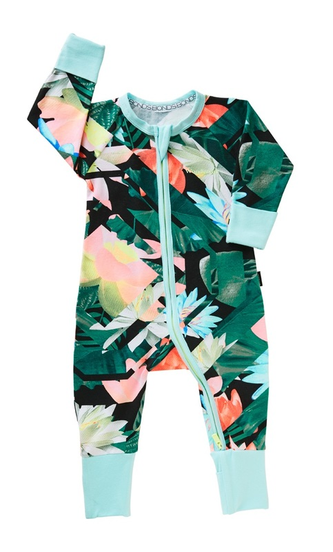 Bonds Zip Wondersuit Long Sleeve - Amazon Escape (6-12 Months)
