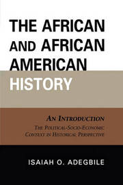 The African and African American History by Isaiah O. Adegbile image