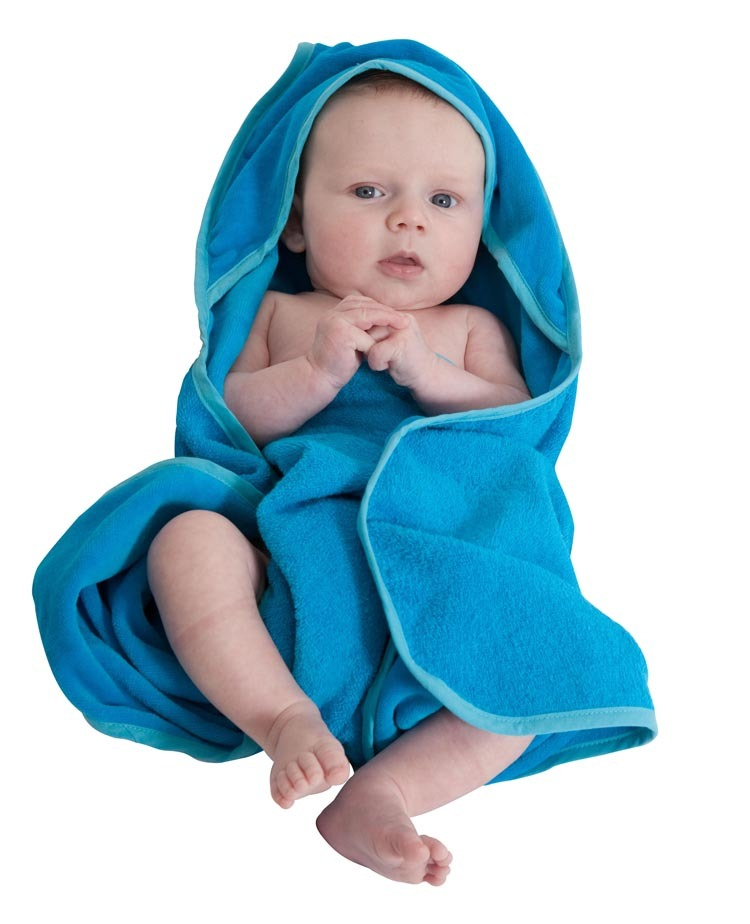 Mum 2 Mum Hooded Towel - Teal image