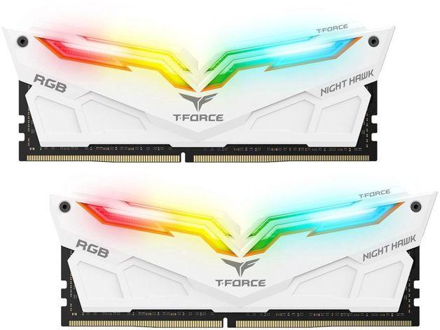 2x8GB Team T-ForceNight Hawk RGB 4000MHz DDR4 Gaming RAM