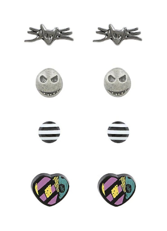 Neon Tuesday: Nightmare Before Christmas - 4 Pack Earring Set image