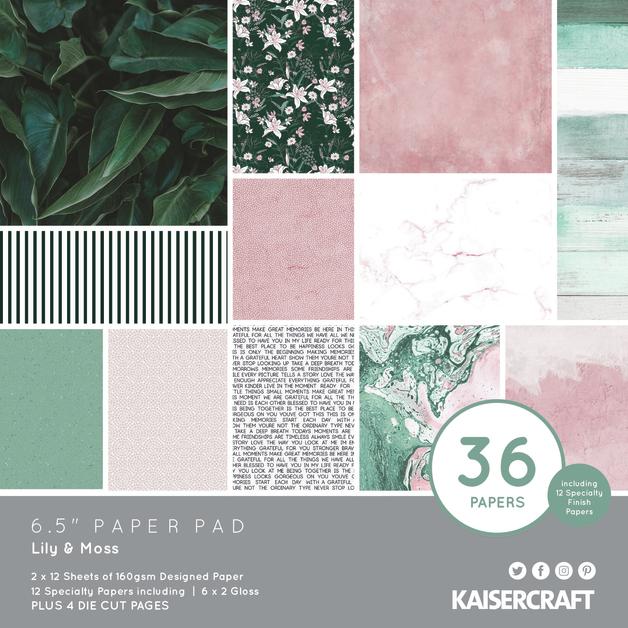 "Kaisercraft: Paper Pad - Lily & Moss (6.5"" x 6.5"")"