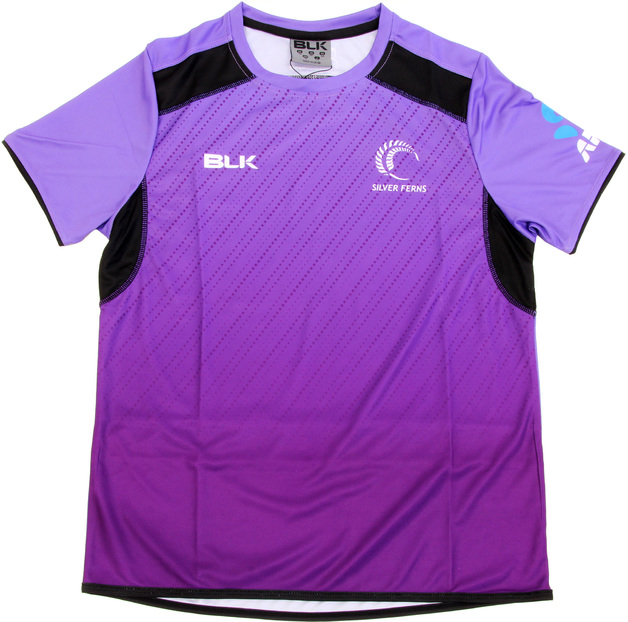 Silver Ferns Kids Training Tee 2017 - Grape (Size 14)