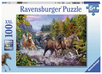 Ravensburger: 100 Piece Puzzle - Rushing River Horses
