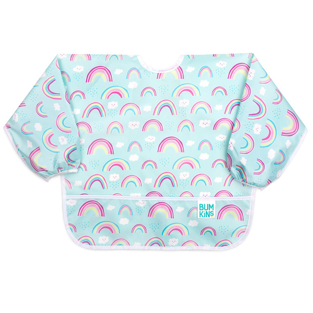 Bumkins: Waterproof Sleeved Bib - Rainbows