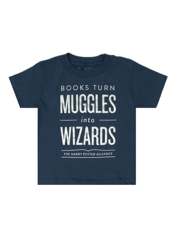 Books Turn Muggles into Wizards Childrens Tee - 10 yr