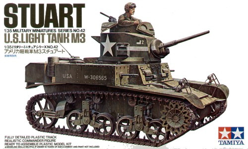 Tamiya U.S. M3 Stuart 1:35 Model Kit image