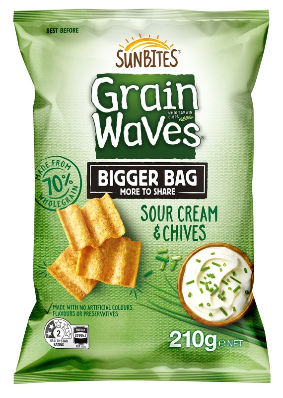 Sunbites Grain Waves Sour Cream Party Bag (210g)