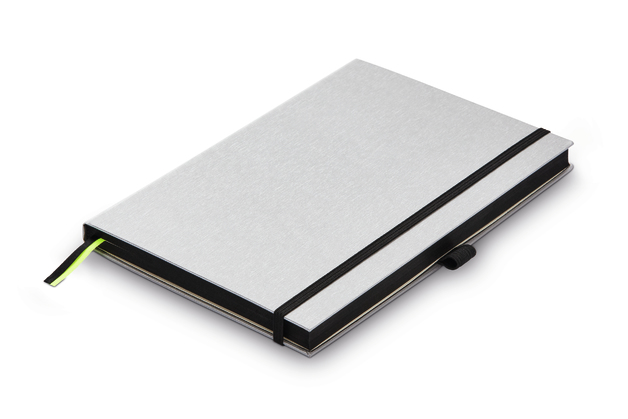 Lamy: A5 Hardcover Notebook - Silver with Black Trim