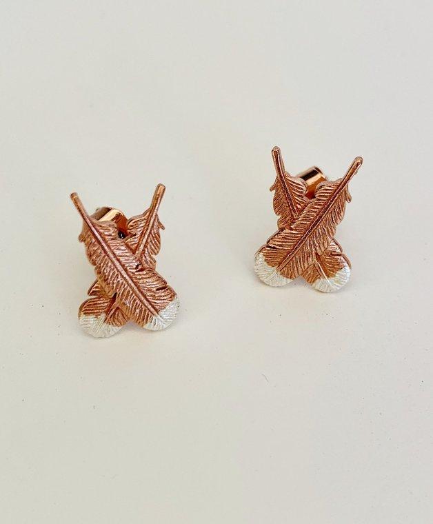 Little Taonga: Huia Feather Earrings
