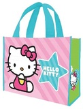 Hello Kitty Pink Stripes Large Recycled Shopper Tote