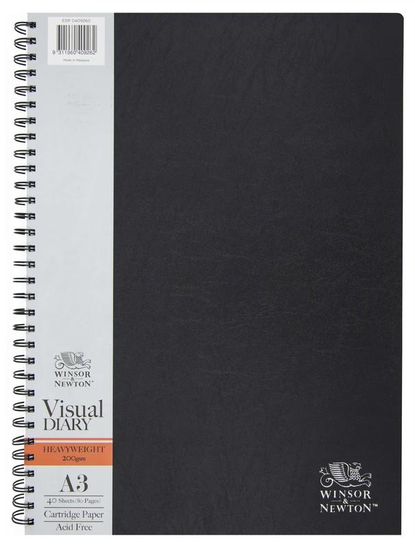 Winsor & Newton Drawing Diary Wiro 200gsm 40 Sheet A3