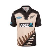 NZ Blackcaps Replica T20 Shirt - Retro Beige (Small)