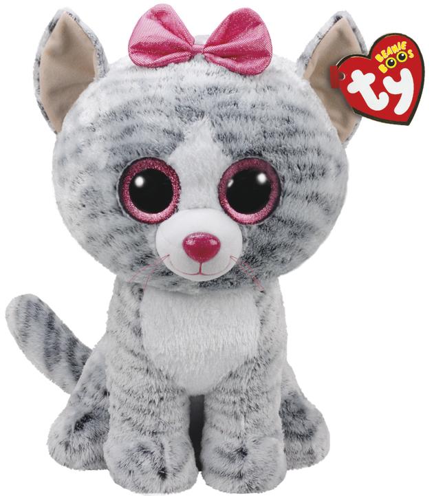 Ty Beanie Boo: Kiki Grey Cat - Large Plush
