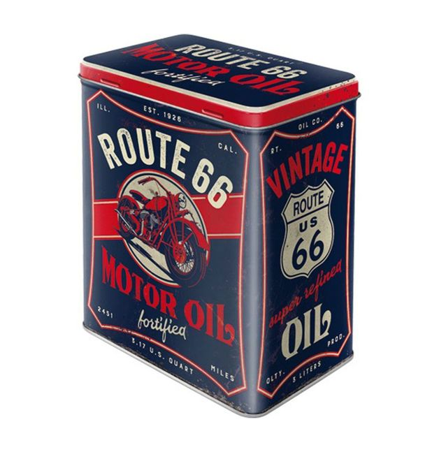 Nostalgic Art: Large Storage Tin - R66 Motor Oil