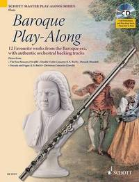 Baroque Play-along for Flute: 12 Favourite Works from the Baroque Era, with Authentic Orchestral Backing Tracks by Max Charles Davies image