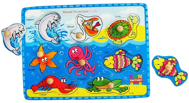 Fun Factory: Sea Animals Puzzle With Knobs