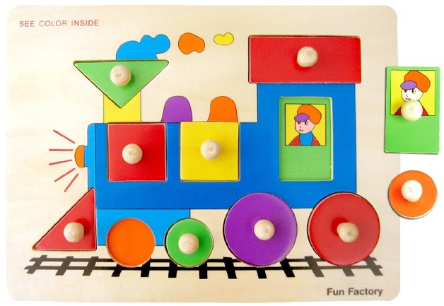 Fun Factory: Train Puzzle With Knobs