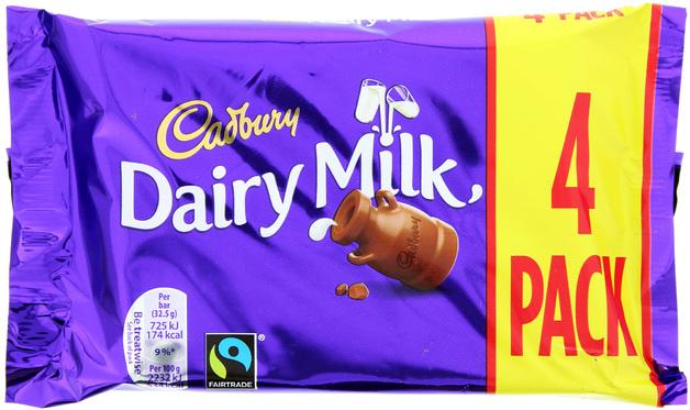 Cadbury: Dairy Milk - Chocolate Bars (4 Pack)