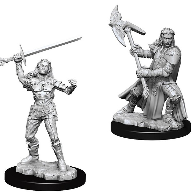 D&D Nolzur's Marvelous: Unpainted Miniatures - Female Half-Orc Fighter