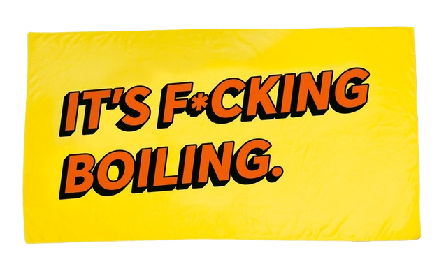 Firebox: Novelty Towel - It's F*cking Boiling