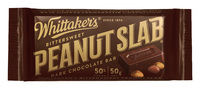 Whittakers Dark Peanut Slab (50g, 50pk)
