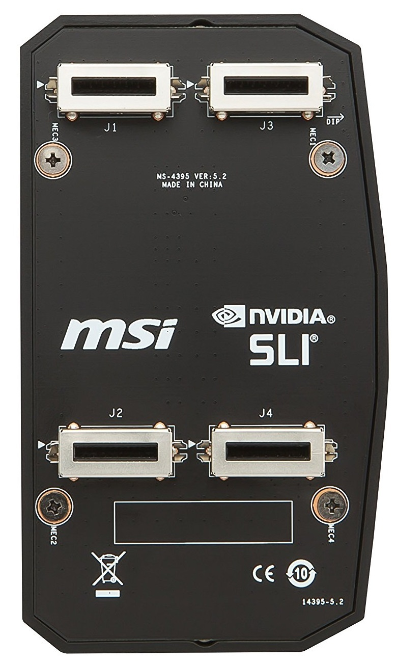 MSI 2-Way HB SLI Bridge M image