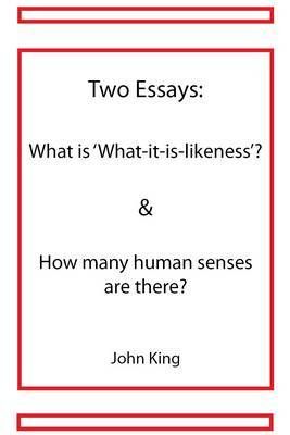 human senses essay Many human senses that we take for granted are incredibly important to our regular function—as you'll see.