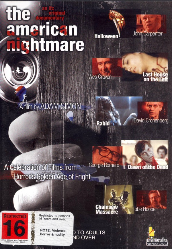 The American Nightmare - A Celebration of Films from Hollywood's Golden Age of Fright on DVD image