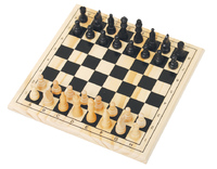 """11"""" Handmade Solid Wooden Chess"""