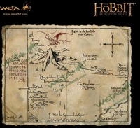 "The Hobbit 16"" Art Print: Thorin's Map - by Weta"