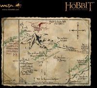 """The Hobbit 16"""" Art Print: Thorin's Map - by Weta"""