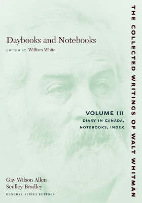 Daybooks and Notebooks: Volume III by Walter Whitman