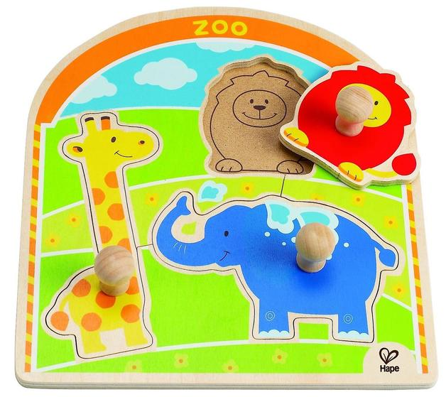 Hape: At the Zoo Knob Puzzle