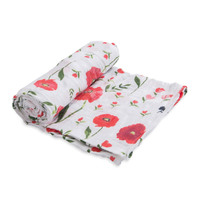 Little Unicorn: Cotton Muslin Swaddle - Summer Poppy (Single)