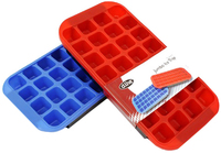 Flexible Jumbo Ice Cube Tray - Red