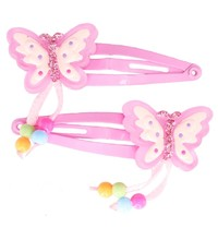Great Pretenders - Fly Away Butterfly Dangle Hair Clip Set