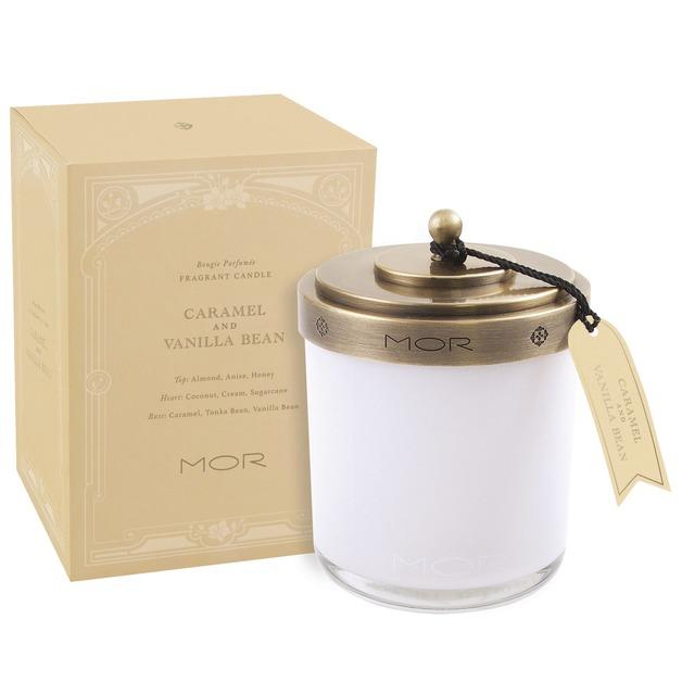 MOR Fragrant Candle - Caramel & Vanilla Bean