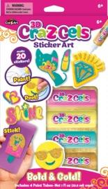 Cra-Z-Gel: Sticker Art Set - Bold & Gold