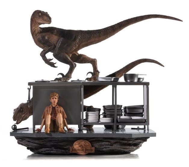Jurassic Park: 1/10 Velociraptors in Kitchen - Art Scale Statue