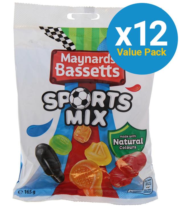 Maynards: Bassetts Sports Mix 165g (12 Pack)
