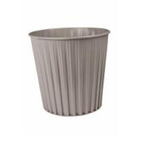 Fluteline 15L Metal Waste Bin - Grey