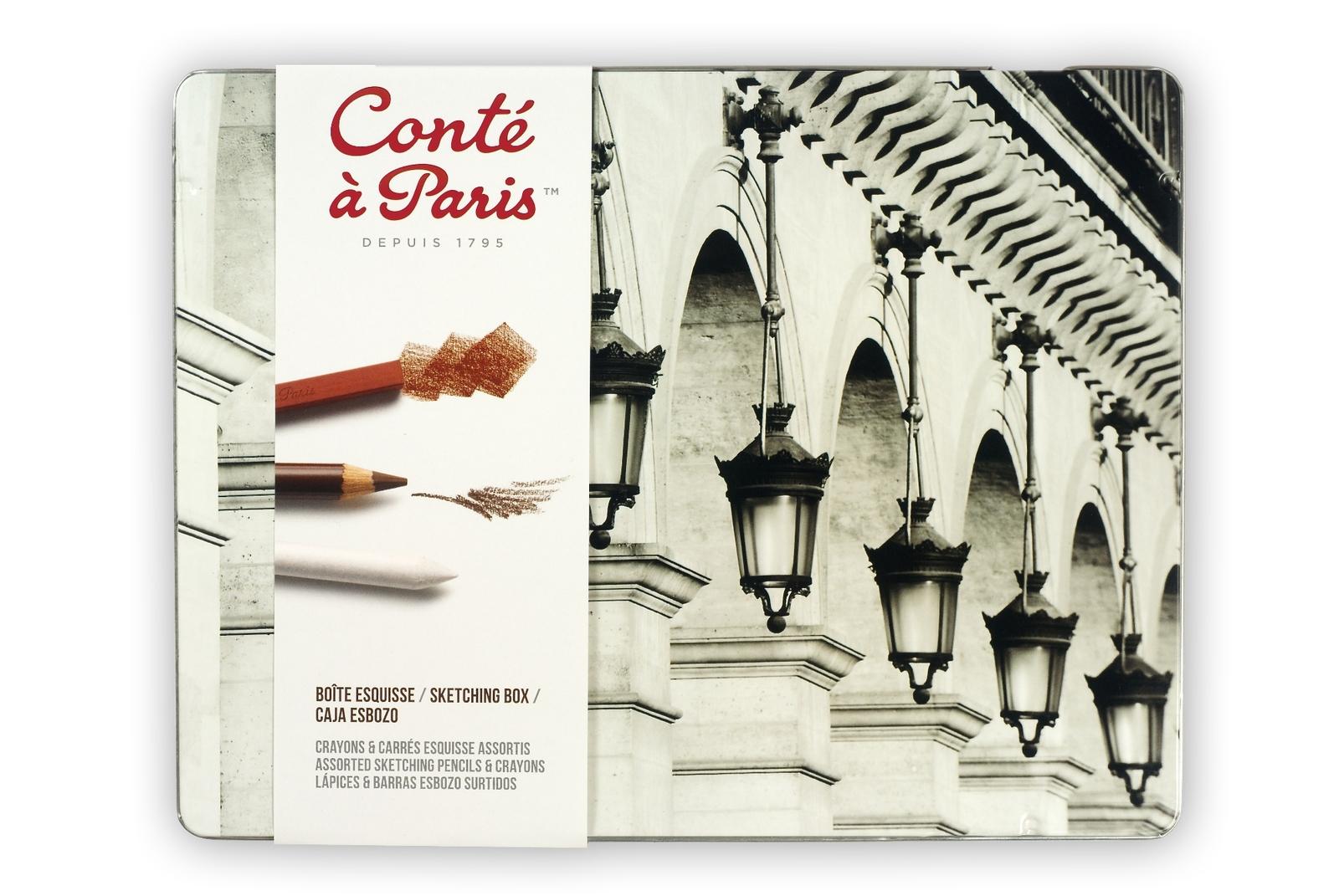 Conte Sketch Box Asst Pencil/Carre image