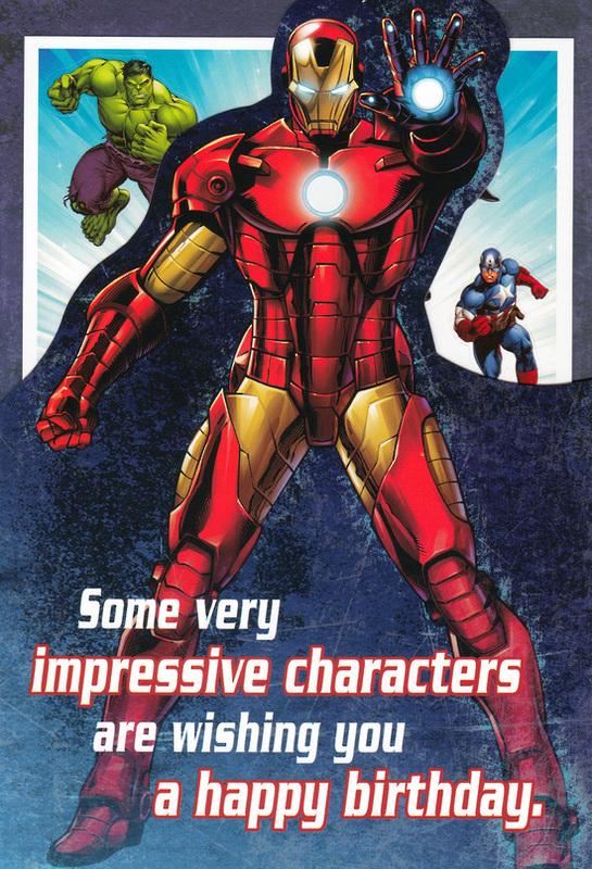 buy marvel avengers birthday card at mighty ape nz