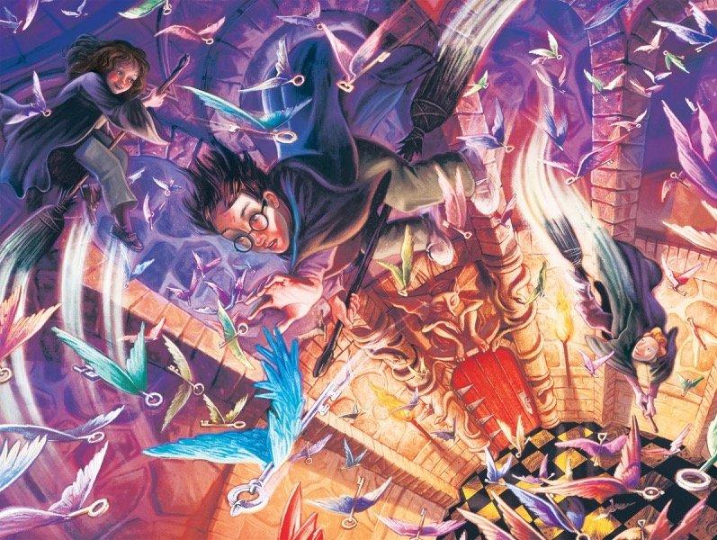 Harry Potter: 1000 Piece Puzzle - Flying Keys image