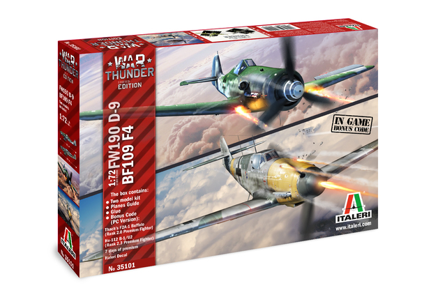 Italeri 1/72 War Thunder Combo BF109/FW109 - Model Kit