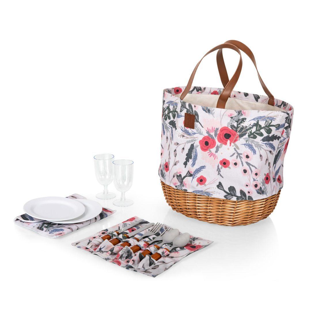 Picnic Time: Promenade Picnic Basket (Floral) image