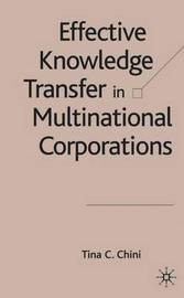 Effective Knowledge Transfer in Multinational Corporations by Tina C. Chini image